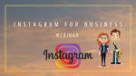 Instagram for business 1